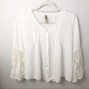 Entro white button-up blouse